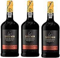 Vino de Oporto Sandeman Founder Reserva 500ml - Vino Fortificado - 3 Botellas