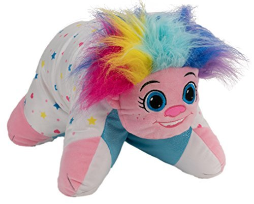 NEW! Flip N Play Kids Pillows, Rainbow Troll Transforming into a Glittering Puppy With Flip-A-Tote!