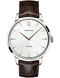 Meisterstuck Heritage Automatic Silver Dial Brown Leather Mens Watch 110695