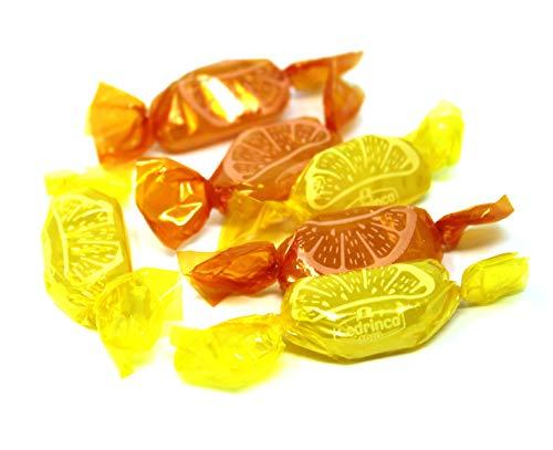 Spicchi Duri Hard Candy Cedrinca Bon Bons, All Natural Orange-Lemon Mixed Flavors Candy, 3Lbs