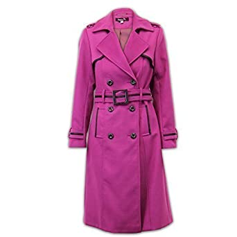 f7ba3d05fe3 Ladies  Jacket Coat WOLP0557 Magenta UK 22  Amazon.co.uk  Clothing