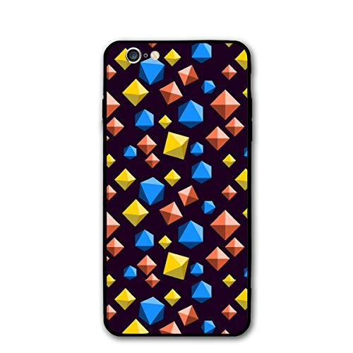 (iPhone 6 Case/iPhone 6s Case Diamond Orange Blue and Yellow Scratch-Resistant TPU Silicone Rubber)