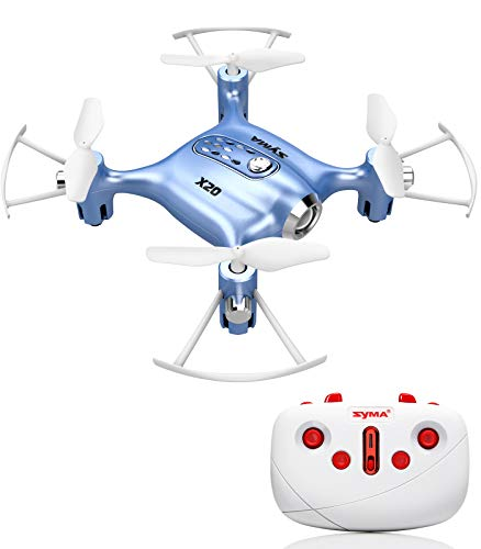 Syma X20 Mini Drones for kids or adults with Altitude Hold and Headless Mode 2.4GHz 4-Channel Two Speed Mode One Key 360…