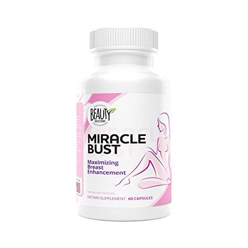 National Beauty Solutions- Miracle Bust- Safe and Effective Breast Enhancement Pills - Augmentation Alternative- Bust Enhancement - Enhance Appearance and Size of Breasts Naturally and Effectively (Best Breast Enhancement Pills Reviews)