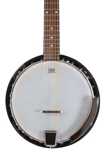 Left Handed 6 String Banjo Guitar with Closed Back Resonator and 24 Brackets by Jameson Guitars