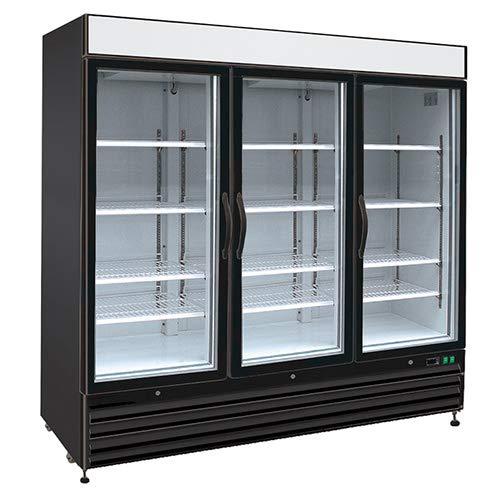 3 Doors Swing Glass Door Merchandiser 81W Kratos Refrigeration 69K-811 72 Cu Ft Refrigerator