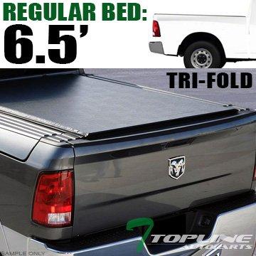 Fold Soft Vinyl Tonneau Cover & Rail For 09-17 Dodge Ram 1500 ; 10-17 2500 / 3500 6.4 Feet ( 76.8