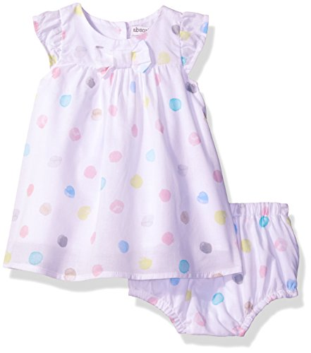 White Dotted Dress (absorba Baby Girls' Dress and Panty Set, White/Dotted, 6/9)
