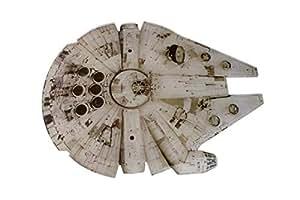 Bluw Star Wars Millennium Falcon Chopping Board, Acrílico, Negro y Plata, Centimeters