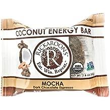 Rickaroons Mocha Vegan, Gluten Free, Certified Organic Coconut Energy Bar, 1.6 Ounce (12 Count)