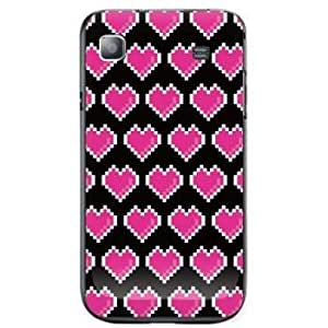 Second Skin AT&T GALAXY S Print Cover Clear (DIGITAL LOVE)