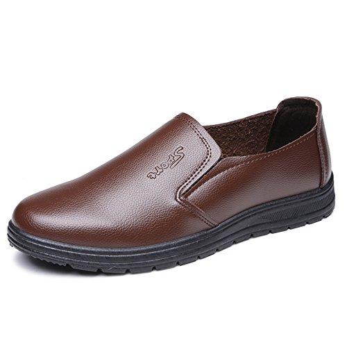 (W&P Sports Men Dress Shoes Plain Toe Slip On Loafer Shoes For Men Comfortable Classic Modern Formal Business Shoes, b, 41)