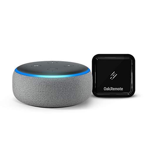 Echo Dot (Grey) bundle with OakRemote for A/C & TV control