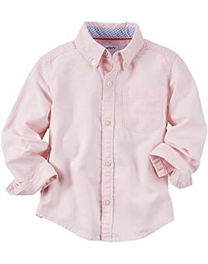 Carter's Woven Shirt, Pink Blossom