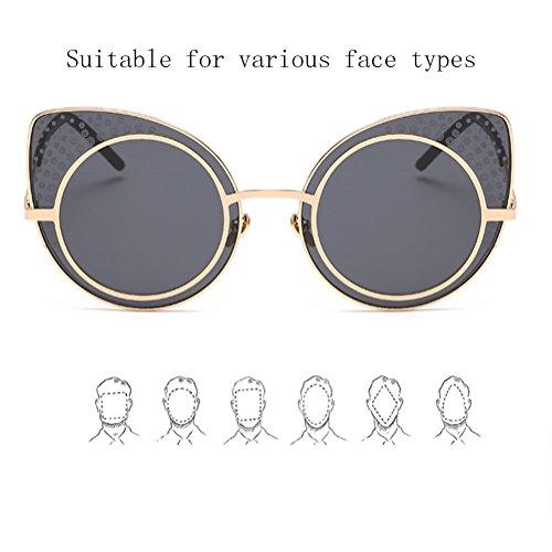 et Colorful Sunglasses de ZYXCC Lunettes Retro Eye Cat Femmes pour Hommes de Soleil YANJING Soleil Bleu Lunettes xCwX4TqO