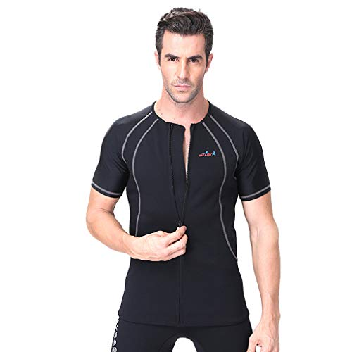 Allywit Men 1.5MM Neoprene Thermal Winter Diving Wetsuit Winter Swimming One Piece Surfing Black by Allywit (Image #4)