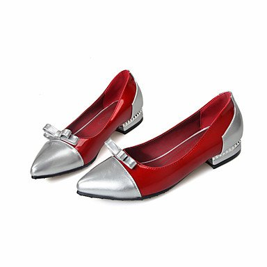 Cómodo y elegante soporte de zapatos de las mujeres pisos primavera verano otoño sintética comodidad oficina y carrera Casual Athletic soporte de talón con lazo rosa rojo blanco Beige senderismo, Rosa