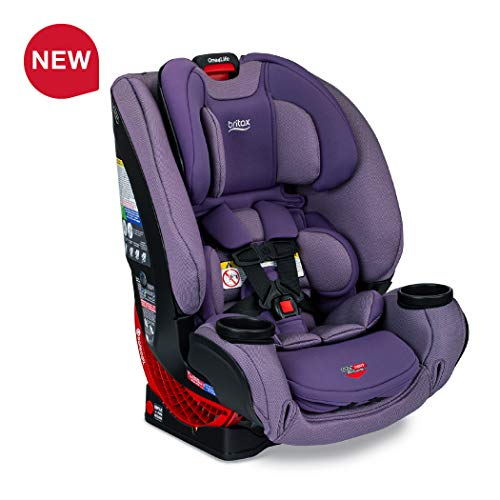 Britax One4Life ClickTight All-in-One Car Seat – 10 Years of Use – Infant, Convertible, Booster – 5 to 120 pounds – SafeWash Fabric, Plum