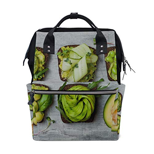 Fragrant and Attractive Avocado Large Capacity Diaper Bags Mummy Backpack Multi Functions Nappy Nursing Bag Tote Handbag for Children Baby Care Travel Daily Women]()