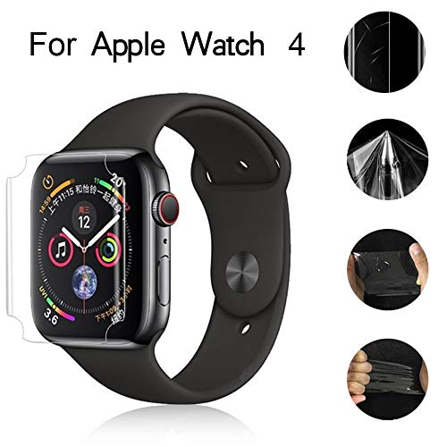 Huangou [ 1 Pack ◆ Smart Watch 3D Hydrogel Protector Film ◆ Clear Full Coverage Hydrogel Transparent Screen Protection Film for Apple Watch 4 40mm (Clear) by Huangou (Image #4)