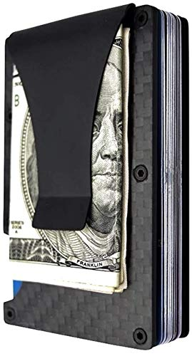 (Carbon Fiber Slim Wallet   Fiber Wallets   Carbon Fiber Money Clip   Cash Money Clip   RFID Minimalist Wallet   Slim Wallet   Card Holder Wallet for Men and Women   2019 Version)