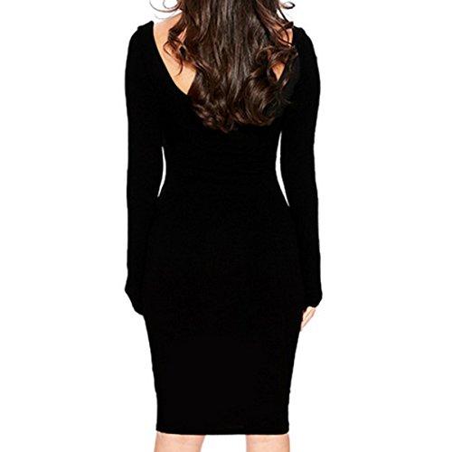 Prendas De Vestir Verano Moda Atractivo De Corte Bajo Vestido De Las Mujeres Black