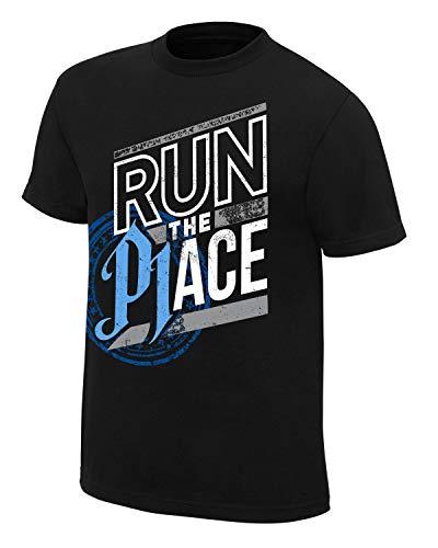 WWE AJ Styles Run The Place T-Shirt Black Medium