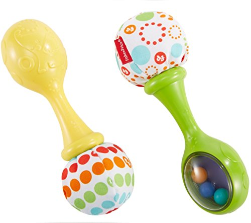 Fisher-Price Rattle 'n Rock Maracas, Green/Yellow