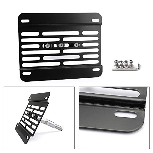 Areyourshop Universal Car Front Bumper Tow Hook License Plate Mounting Bracket Kit Fits from Areyourshop