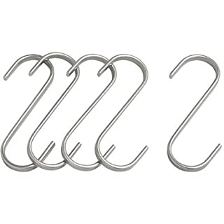 Butcher Hanging Hook (S-Hook) 4.25in (11cm) 5-Pack Stainless (B00423ID0U) | Amazon price tracker / tracking, Amazon price history charts, Amazon price watches, Amazon price drop alerts