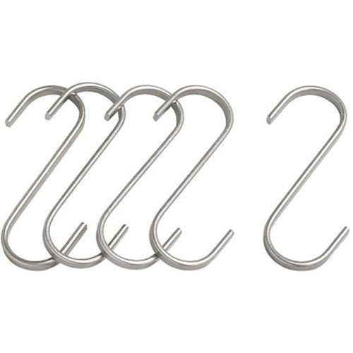 Butcher Hanging Hook (S-Hook) 4.25in (11cm) 5-Pack Stainless