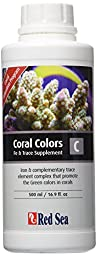 Red Sea Fish Pharm ARE22063 Coral Colors Iron/Trace Supplement-C for Aquarium, 500ml