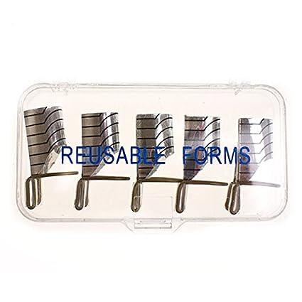 5 Plantillas para uñas - 5 moldes de teflón para uñas - Re-utilizables -