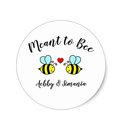 Bee Party Decorations - Bee Birthday Party Decorations - Personalized Meant to Bee Circle Stickers,Cupcake Toppers,Birthday Party Decorations Kids Sticker Label for Birthday,Baby Shower.