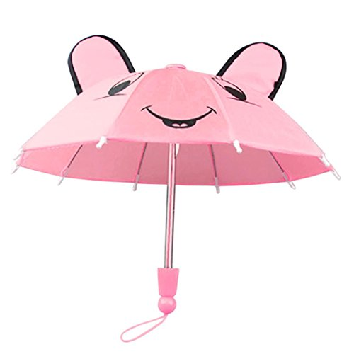 Umbrella Accessories For 18 inch American Girl /Baby Born Dolls Handmade Raptop (Pink)