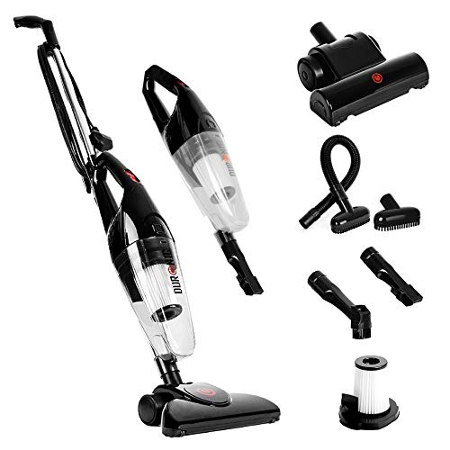 Duronic VC7/BK Upright Stick Vacuum Cleaner Hand held Corded HEPA Filter...