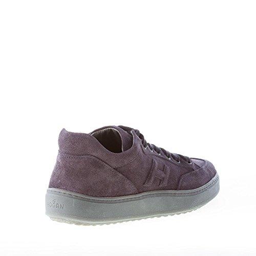 Hogan Uomo Sneaker H302 Mid Cut in camoscio Blu Denim Blu Amazon En Línea C6XfIPm