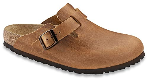- Birkenstock Men's Boston Antique Brown Leather Clogs 36 (Narrow)