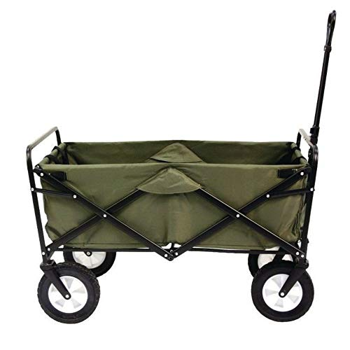 Mac Sports Collapsible Folding Outdoor Utility Wagon, Green ()