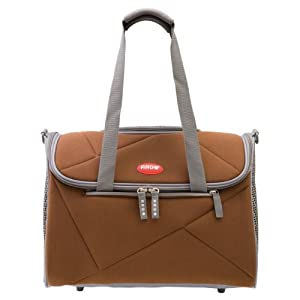Argo by Teafco Pet Avion Airline Approved Pet Carrier, Chocolate Brown, Medium
