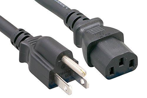 Cablelera North American Standard Power Cord, NEMA5-15P to IEC320 C13, 15', 16AWG, 10A 125V (ZWACPCAJ-15) by Cablelera (Image #1)