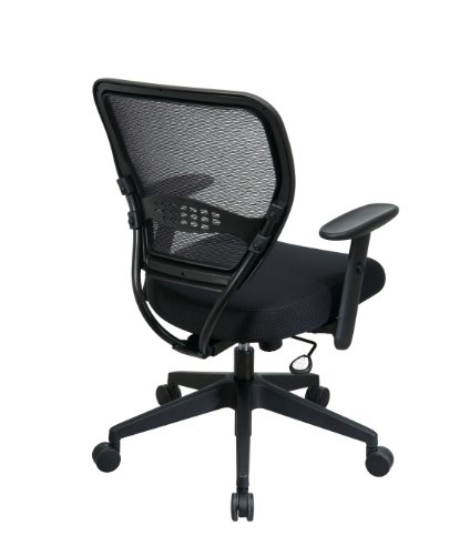 amazon com space seating space 5500 air grid mid back swivel chair