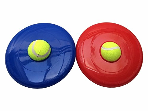 Pet Dog Flying Disk with Tennis Ball Pet Dog Toy Training Fun Activity Tool
