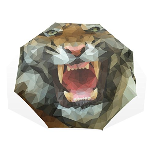 Ye Store Polygon Tiger   Imgur Folding Umbrella Glass Fiber Umbrella Skeleton Nano Umbrella Cloth