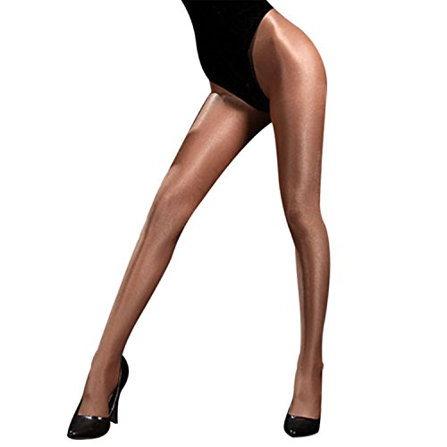 - Phillip Dudley Women Glitter Shimmer Tights Seamless Shiny Glossy Oil Stocking Dance Thigh Highs Tights Pantyhose Complexion