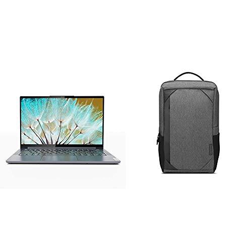 Lenovo Yoga Slim 7i 10th Gen Intel Core i5 14″ FHD IPS Thin & Light Laptop (8GB/512GB SSD/Win10/Office 2019/NVIDIA MX350 2GB GDDR5 Graphics/1.55Kg) 82A1009LIN + Lenovo Laptop Urban Backpack B530