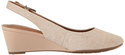 Easy Spirit Womens Safra Dress Pump Taupe Leather