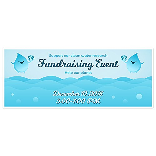 Blue Fundraising Water Banner