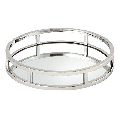 Elegance Beam Round Mirror Tray,10.75 inch