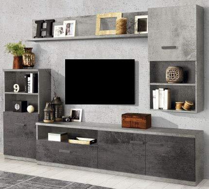 Dafnedesign.com - Parete componibile per soggiorno - Colore: ossido ...